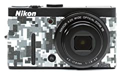 Nikon COOLPIX P310 Camera Leather Decoration Sticker Digital Camouflage type 8500 Made in Japan