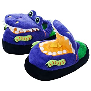 Silly Slippeez Dinosaur Plush Slippers