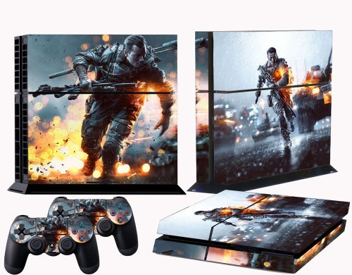 PS4-skins-battle-field-4-vinyl-decal-BF4-cover-for-Sony-playstation-4-console