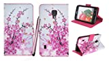 Kit Me Out UK PU Leather Printed Side Flip + Pink Resistive / Capacitive Stylus Pen + Screen Protector with MicroFibre Cleaning Cloth for LG Optimus L7 2 P710 - White / Pink Blossom