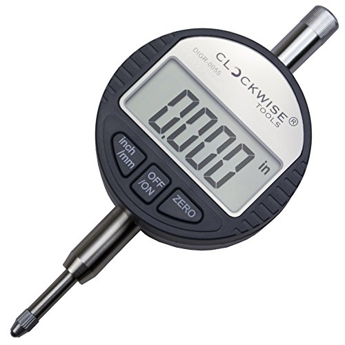 Clockwise Tools DIGR-0055 Electronic Digital Indicator Gage Gauge Inch/Metric Conversion 0-0.5 Inch/12.7 mm with Back Lug Auto Off Featured Measuring Tool (Digital Electronic Indicator compare prices)