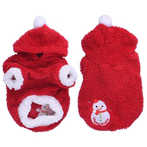 Natale accessori del cane vestito il pupazzo