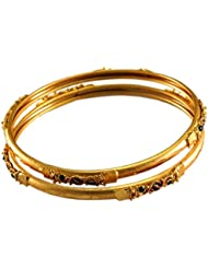 Designer Antique Gold Plated Bangle For Women
