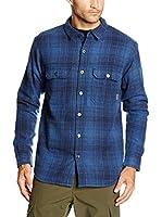 Columbia Camisa Hombre Windward Iii Overshirt (Azul Medio)