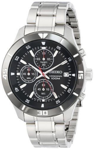 Seiko Men's SKS405 Analog Display Japanese Quartz Silver Watch