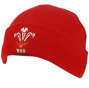 Official Wales Rugby Beanie Hat - Welsh Rugby Union Hat - Officially Licensed from WALES R.F.U.
