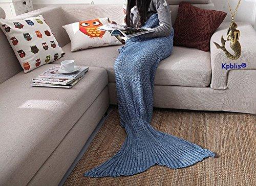 "Kpblis® Mermaid Super Soft Blanket for Children Audlt 75""*31"" Blue"