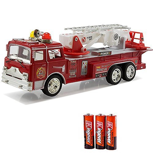 Fire Engine Truck Kids Toyl Kids Toy with Extending Ladder & Lights & Siren Sounds Vocal Phrases Bump & Go Action (Slide Fire Systems compare prices)