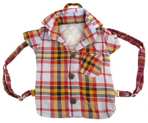 Handmade Kids Picnic Backpack, Baby Cowboy Costume Bag - Red