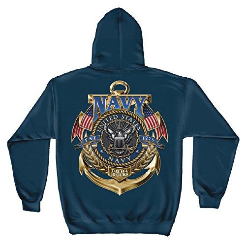 Us Navy Hooded Sweatshirt The Sea Is Ours-Medium