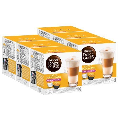 Nescafé Dolce Gusto Skinny Latte Macchiato, Pack Of 6, 6 X 16 Capsules (48 Servings) front-580241