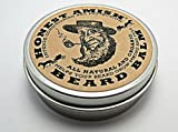 Honest Amish Beard Balm Leave-in Conditioner - All Natural -Vegan Friendly Organic Oils and Butters