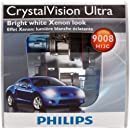 Philips 9008 CrystalVision Ultra Replacement Bulb, (Pack of 2)