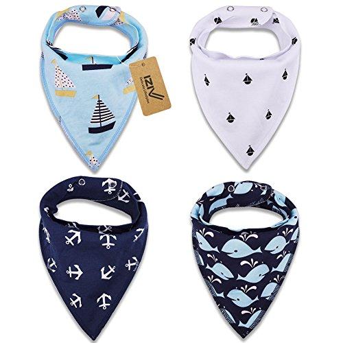 izivtm-bavaglino-neonato-confezione-da-4-disegni-bandana-bavaglini-con-bottoni-regolabile-tpu-imperm