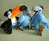 "Rio 9"" Stuffed Toys Plush Whole Set - Blu, Jewel & Rafael"