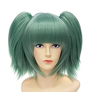 Amazon Com Green Womens Cosplay Party Anime Coser Hair