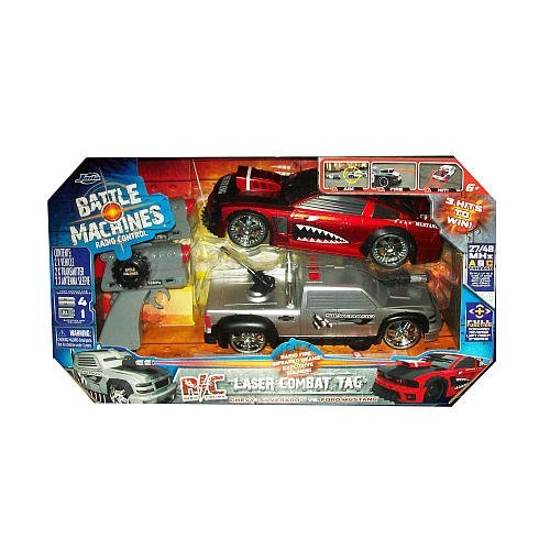 Battle Machines Radio Control Laser Combat Tag 2 Pk Car Set Silverado Vs Mustang (Battle Machines compare prices)