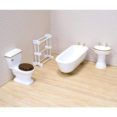 Melissa & Doug Deluxe Doll – House Bathroom Furniture