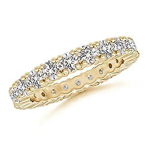 Diamond Eternity Wedding Band in 14K Yellow Gold