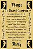 A4 Size Parchment Poster Literary First Lines Thomas Hardy The Mayor of Casterbridge