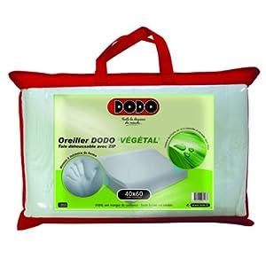 dodo vegetal oreiller uni ergonomique blanc 40 x 60 cm ergonomique cuisine maison. Black Bedroom Furniture Sets. Home Design Ideas