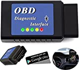 Foseal OBD2 Scanner OBD 2 Bluetooth Car Diagnostic Tool Engine Check Tool OBDII Android Engine Scan Tool Check Engine Light Torque Lite DashCommand App