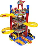 Large Parking - Garage with exits, lift, 6 cars, auto car wasch, gas station and other accessories - Car Park - Auto Parking - Parking Garage Playset