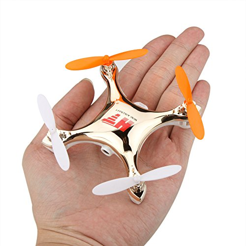 KKmoon HT F803C 4CH 2.4GHz 6-Axis Mini Headless Gyro UFO Drone Quadcopter RTF With Camera FPV-Golden