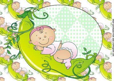 Pea pod baby girl, 2-topper von Sharon Poore