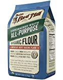 Bob's Red Mill Organic Unbl White Flour, 5-Pound (Pack of 4)