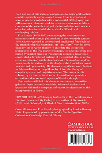 The Cambridge Companion to Hayek (Cambridge Companions to Philosophy)