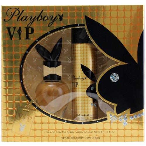 Playboy, VIP, Set da regalo, incl. Eau de Toilette (30 ml) e deodorante spray (75 ml)