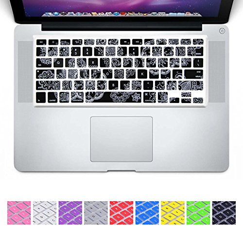 DHZ Classic Arts Craft Paper Cutting Flowers Keyboard Cover Silicone Skin for MacBook Air 13