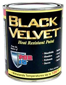 Por  Black Velvet Heat Resistant Paint