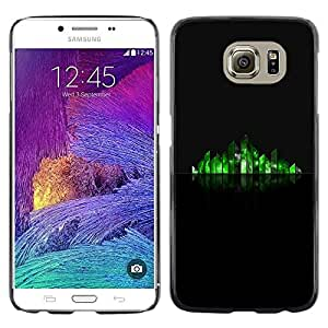Omega Covers - Snap on Hard Back Case Cover Shell FOR Samsung Galaxy S6 - Reflective Grass Minimalist Stylized