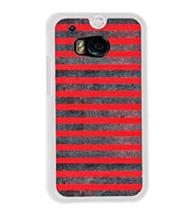 Red Lines Pattern 2D Hard Polycarbonate Designer Back Case Cover for HTC One M8 :: HTC M8 :: HTC One M8 Eye :: HTC One M8 Dual Sim :: HTC One M8s