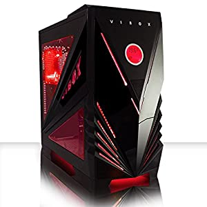 VIBOX Centre 3 - Home, Office, Family, Gaming PC, Multimedia, Desktop PC, Computer (New 3.1GHz Intel, Pentium Dual-Core Processor, 2GB AMD Radeon R7 240 Graphics Card, 1TB HDD Hard Drive, 4GB 1600MHz RAM, No Operating System)