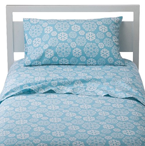 Snowflakes ~ Queen- Flannel Sheet Set front-855828