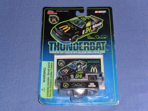 1995 NASCAR Racing Champions . . . Bill Elliott #94 McDonalds Thunderbat Ford Thunderbird 1/64 Diecast . . . Includes Collectors Card and Display Stand - 1