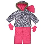 Carter's Girls Hooded Faux Fur Trim Snow Suit Set