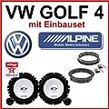 VW Golf 4 Lautsprecher Alpine mit Einbauset von Alpine - Reifen Onlineshop