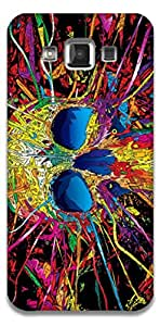 The Racoon Grip printed designer hard back mobile phone case cover for Samsung Galaxy E5. (Colored sk)