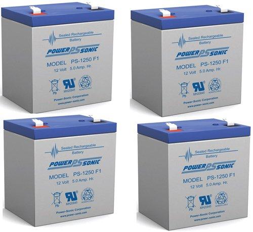 Ca1240 12V 4Ah First Alert Adt Alarm Battery New Ps-1250 - 4 Pack