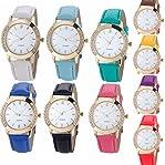 Yunan 10 Pack Wholesale Geneva Women Watches Leather Rhinestone Inlaid Quartz Jelly Dress Wristwatch