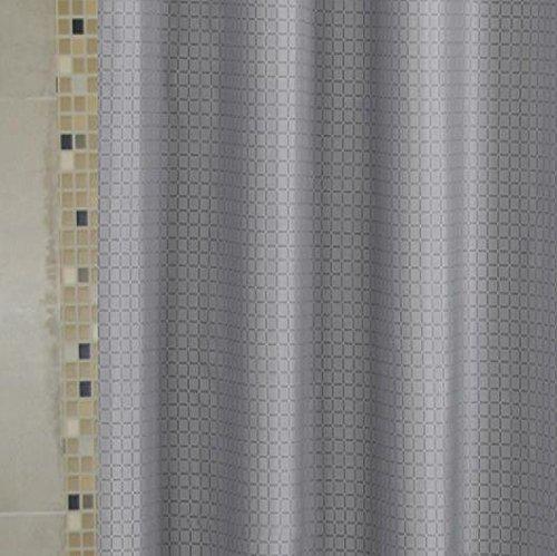 Eforcurtain Heavy Weight Checkered Pattern Shower Curtain Durable Mildew Free Fabric Bath