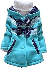 Kids Baby Girl Jacket Coat Hoodie Sweater Bowknot Fleece Children Clothes