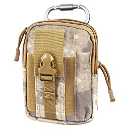 Compact Multi-Purpose Tactical MOLLE EDC Utility Gadget Pouch Tools Waist Bag Pack (ATACS)
