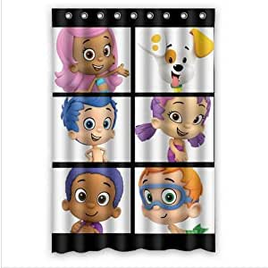 Custom Bubble Guppies Pattern Waterproof Bathroom Shower Curtain 100 Polyester