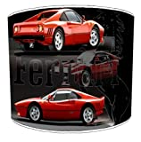 Premier Lampshades - 10 Inch Table Ferrari 288 Gto Car Lampshades
