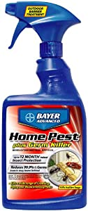 Bayer Advanced 700460 Home Pest Plus Germ Killer Indoor and Outdoor Insect Killer Ready-To-Use, 24-Ounce